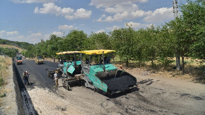 Thousand Ton Hot Asphalt to Old Mardin and Siverek Road
