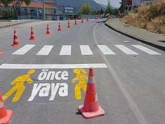pedestrian project is first implemented in the area