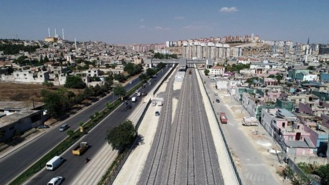 Gaziray suburban line completed the percentage work