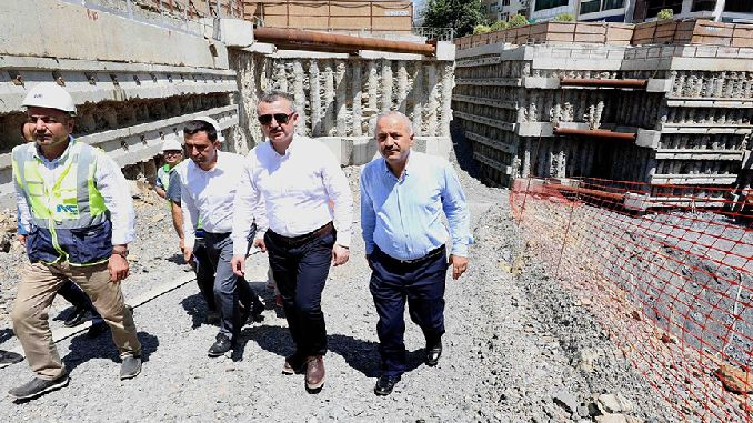 gebzede metro construction continues at full speed