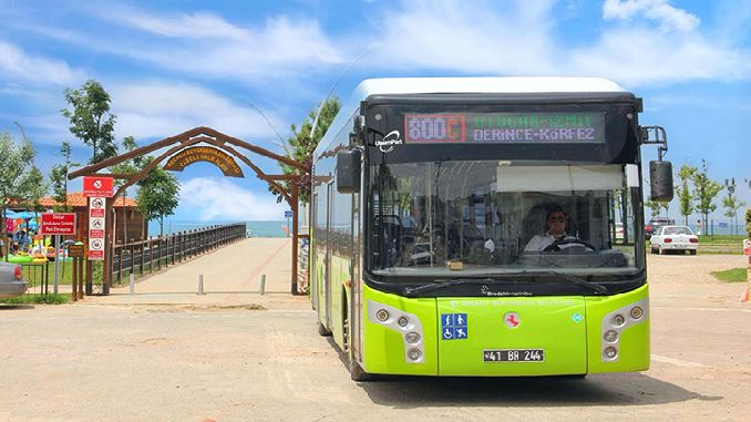 Kocaelide citizens started to reach the coast of the bus service