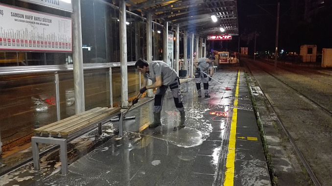 samulastan otobus tram and stations cleaning mobilization