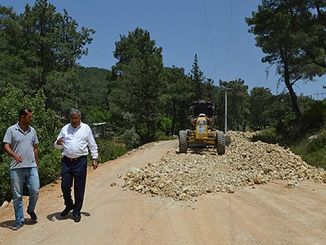 serikte road works in progress