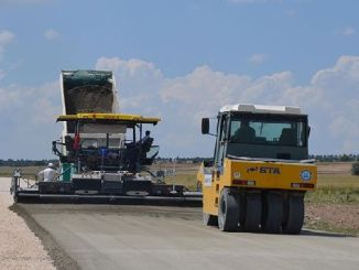 concrete road work started in seyitgaz