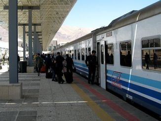 Ang tehran van passenger train nagsugod sa mga flight
