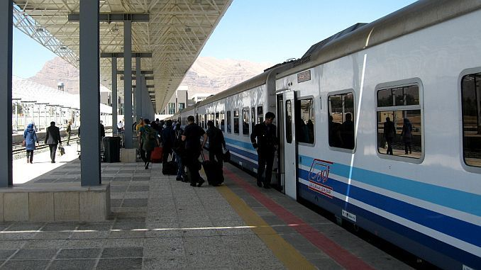 tehran van passenger train starts flights
