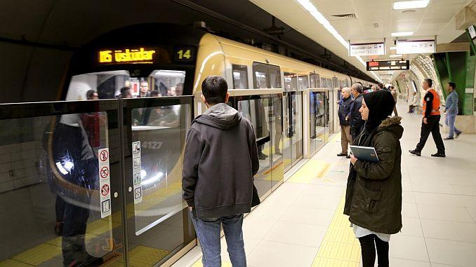 uskudar cekmekoy metro hattinda yolcu tasima rekoru