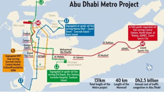 Abu Dhabi Metro Map