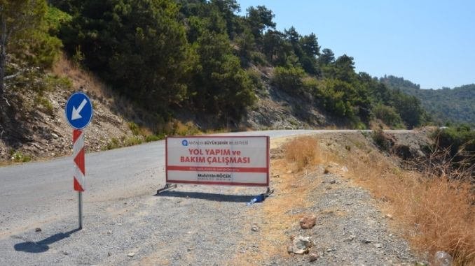 alanya gazipasa coast road is reached