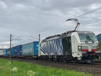 freight train and car driver in austria