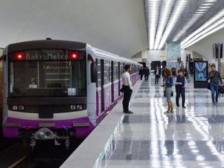 karta podzemne željeznice u Bakuu