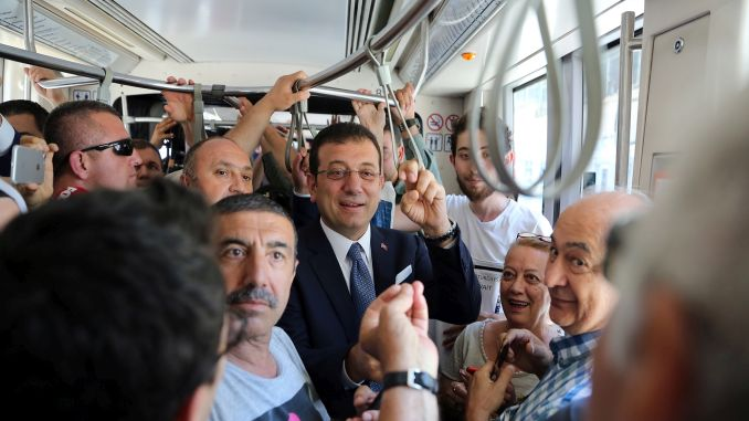 President imamoglu got on the tram listened to the problems of citizens