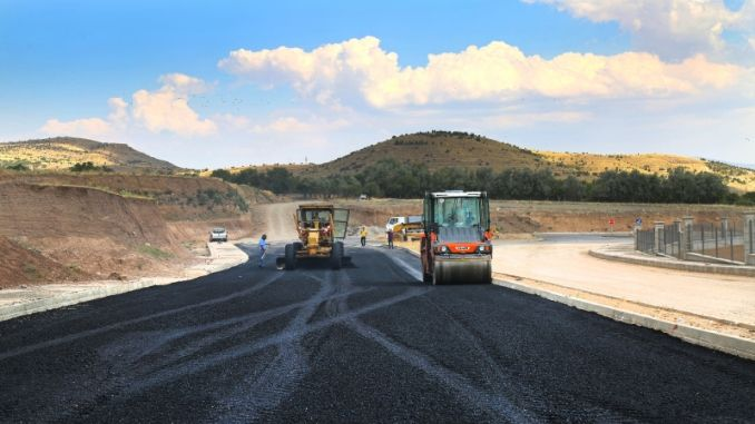 elazig city hospital asphalting roads
