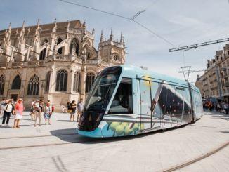 fransa caen la merin yeni tramvay sistemi