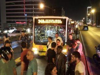 Metrobus-Unfall in Istanbul Mecidiyekoyde