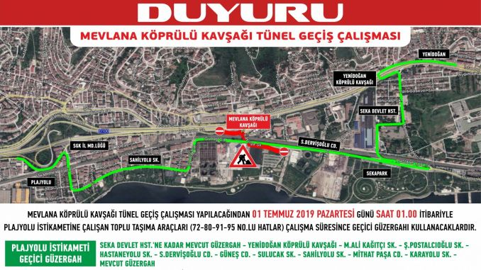 izmit beach road traffic route change