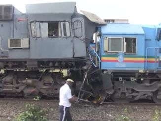 La collisione di due treni in Congo