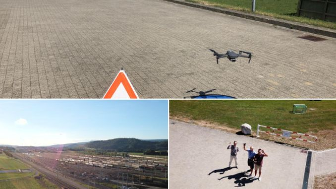romberg sersa rail group employees received drone training