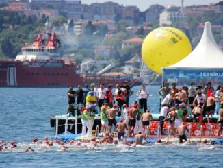 samsung bogazici intercontinental swimming race excitement ended