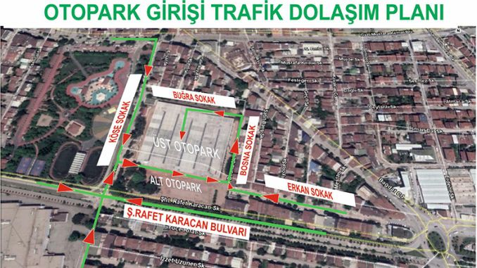 New traffic circulation plan specific to the East Barracks Market area