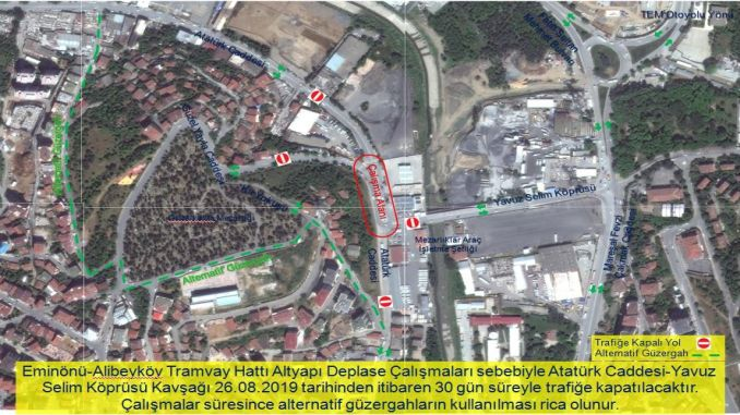 Infrastructure displacement will be made for tram in alibeykoy