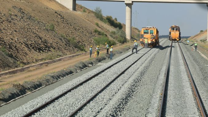 ankara sivas yht project continues rail laying