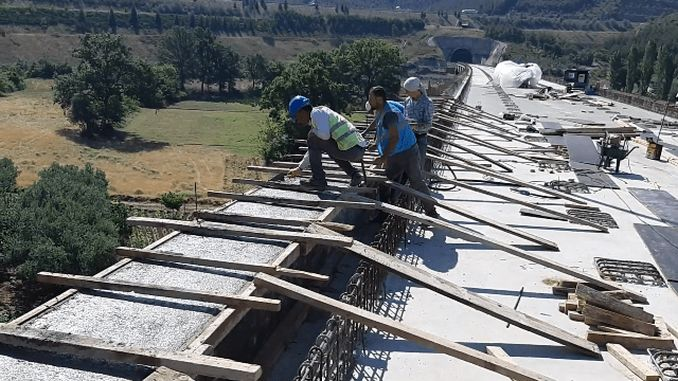 bursa fast train line demirtas viadugu worker's work ends
