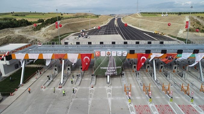 mega highway project between istanbul and izmir