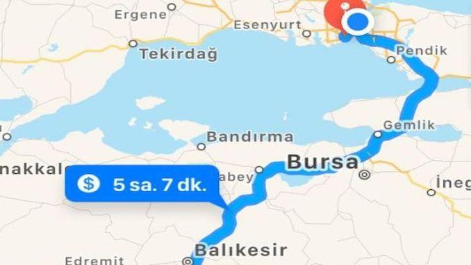 istanbul izmir new highway test
