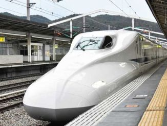japan, the train door to the speed of the hour made open expedition