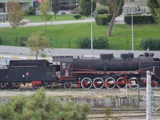 黑色火車凍結回到balikesire