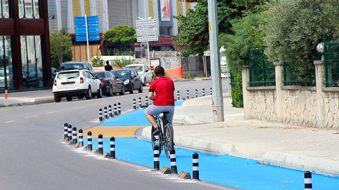 cycling paths in sakarya are made to standards