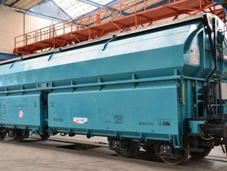 turkiyenin был произведен в первых национальных грузовых вагонов нового поколения объектов TÜDEMSAŞ