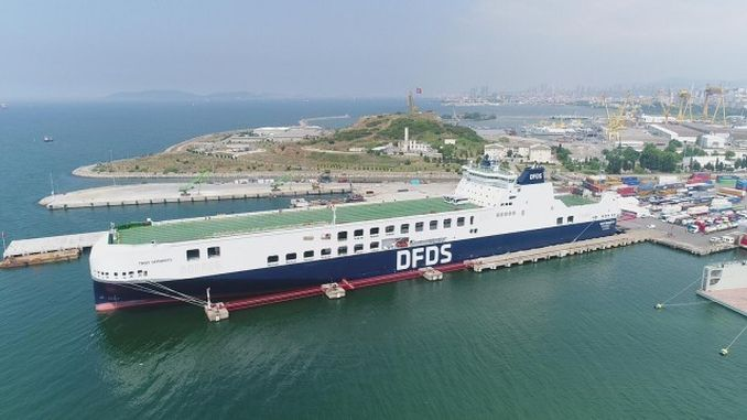 un ro ro dfds launches its second giant ship troy seaways