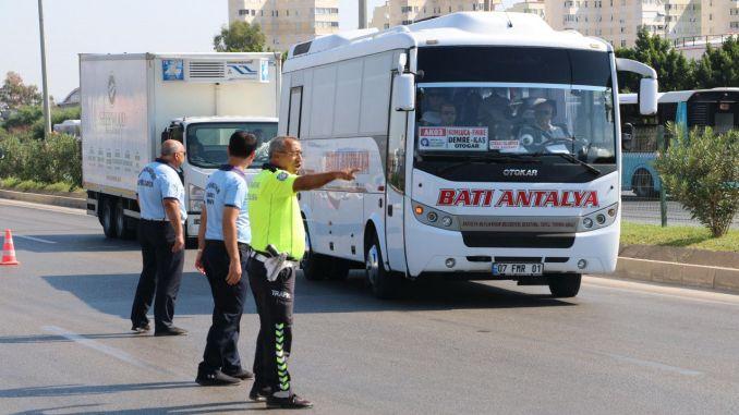 mass transportation vehicles in antalya audited