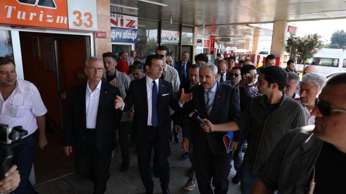राष्ट्राध्यक्ष इमामोग्लू यांनी आपल्या भाग्यासाठी सोडलेल्या हॅरेम बस स्थानकाची तपासणी केली