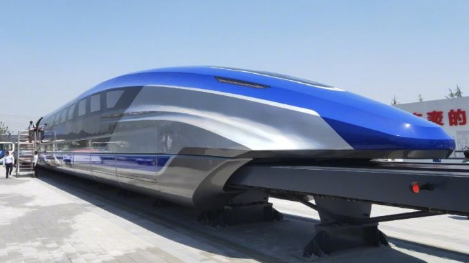 of the engine of the maglev train with speed of kilometers produced