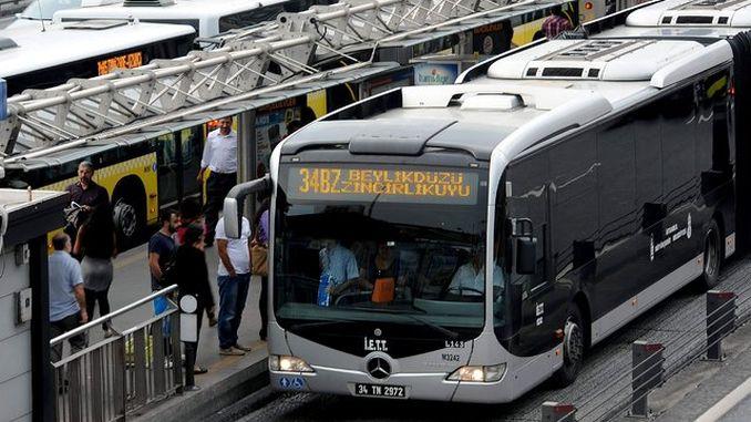 servizo de autobuses despois do terremoto