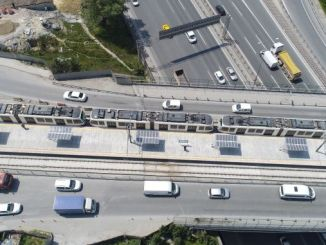 self-generating tram station