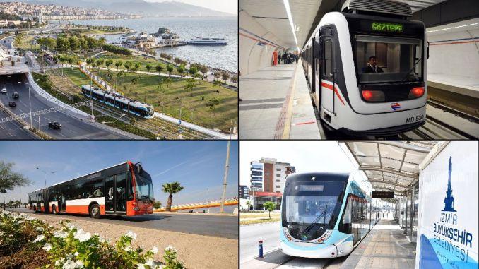 public transportation begins in izmir