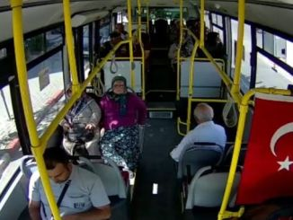 karamanda municipal buses installed security camera