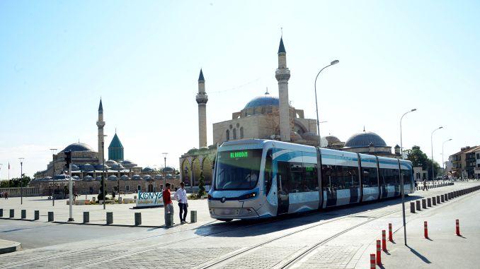 Гісторыя трамваяў у Конье
