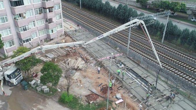 куруцесме ткање жељезничких бетона на трамвајској линији