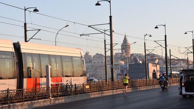 national athlete batuhan bugra eruygun competed by tram