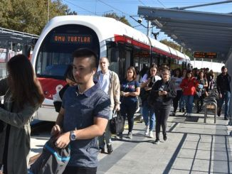 In the campus, students experience the convenience of the tram