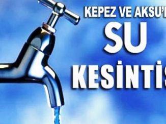 Vattenavbrott i Kepez och Aksu