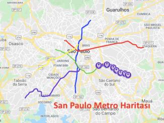 San Paulo metroo kaart