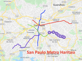 San Paulo Metro Haritasi