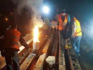 يتم تجديد السكك الحديدية أنقرة أنقرة