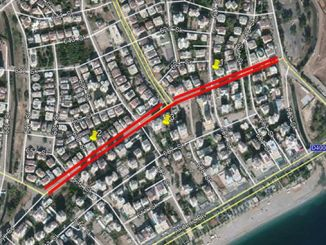 antalya municipality street gun traffic closed